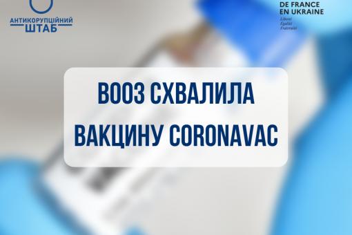 Всесвітня організація охорони здоров'я схвалила використання китайської вакцини Coronavac